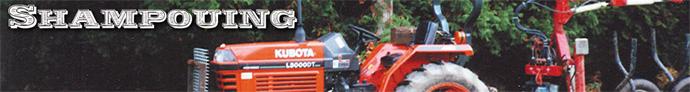 Shampouing bannière tracteur